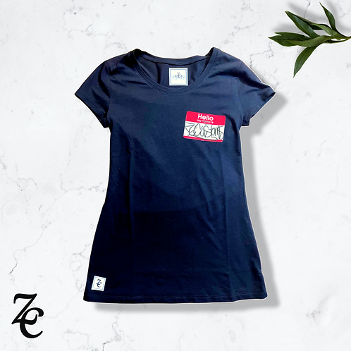 """ZC """"Hello My Fit Is"""" Woman's Tee"""