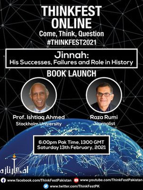 THREE LINKS TO WATCH LIVE DISCUSSION BETWEEN RAZA RUMI AND I ON MY BOOK ON JINNAH