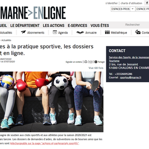 Soutien aux Clubs sportifs du département de la Marne