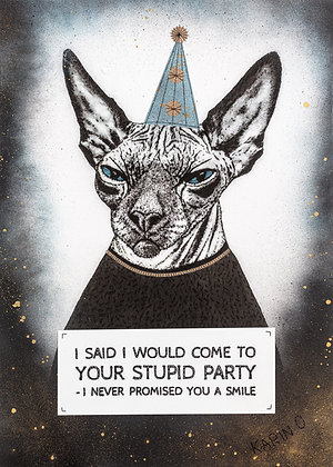Poster - Stupid Party Blue