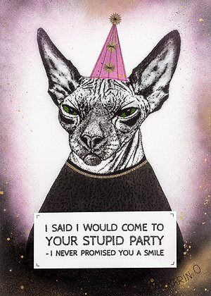 Poster - Stupid Party Pink