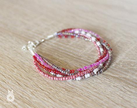 Bracelet en perles rouges