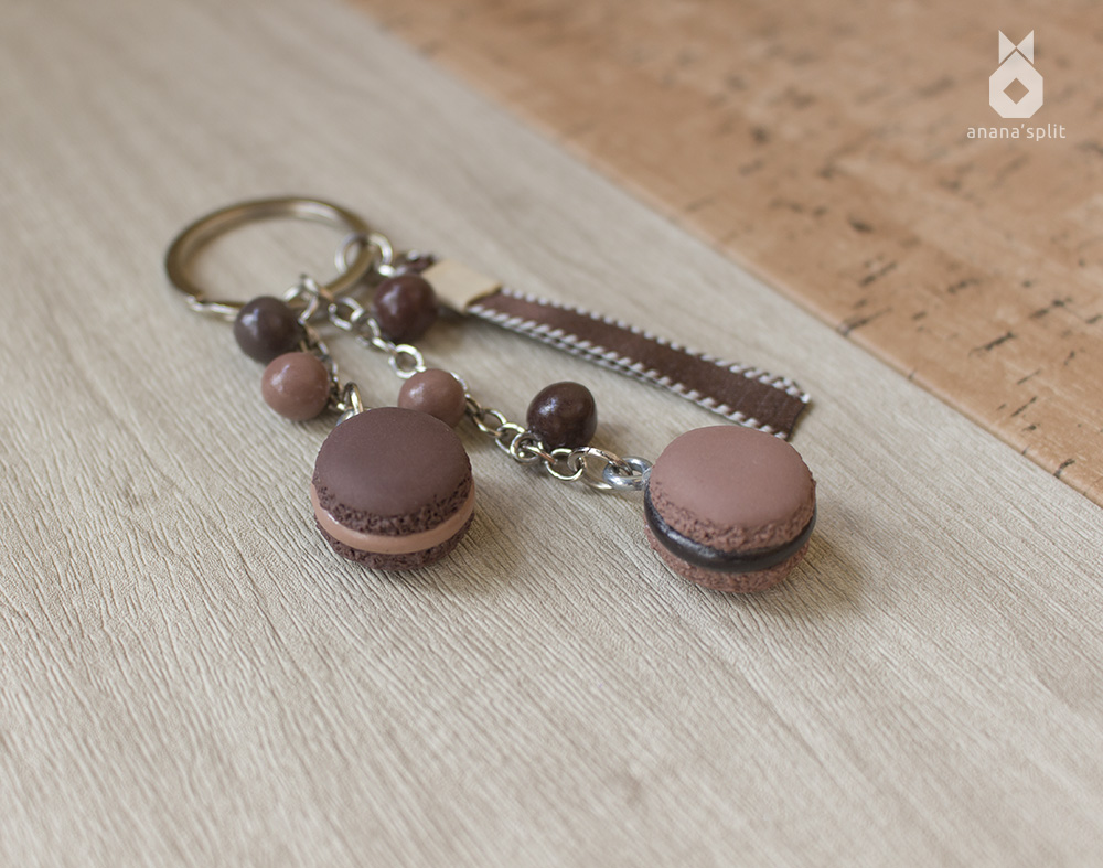 Porte-clefs : Duo de macarons