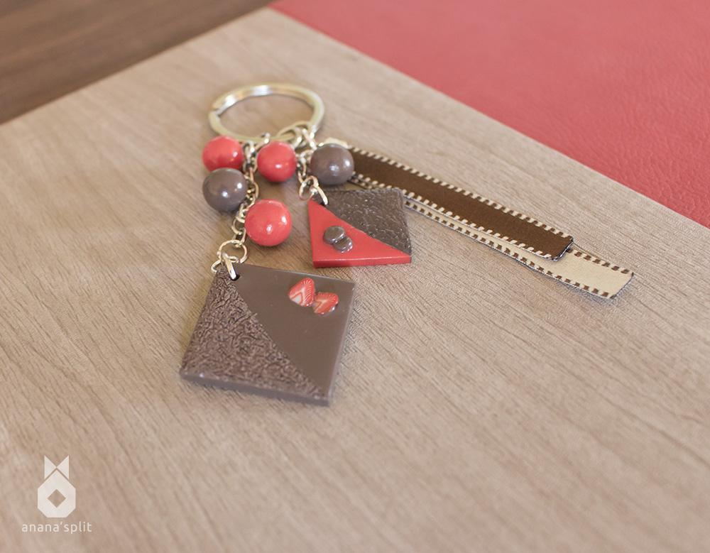 Porte-clefs : Biscuit chocolat