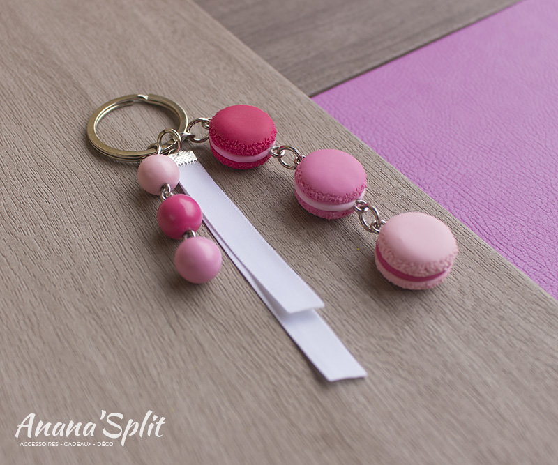 Porte-clefs : Trio de macarons
