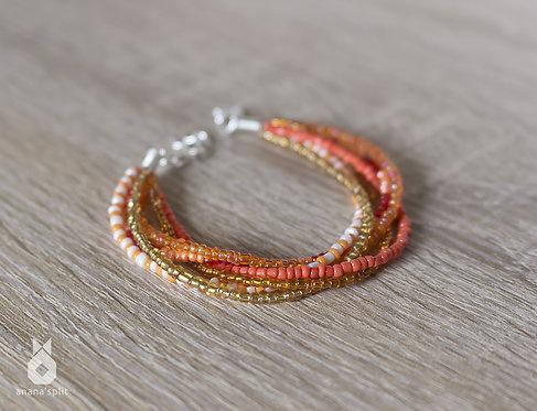 Bracelet en perles oranges