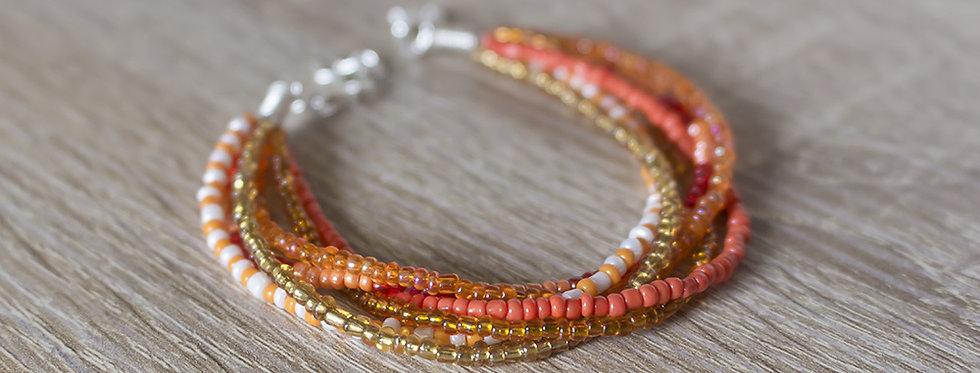 Bracelet en perles de rocailles