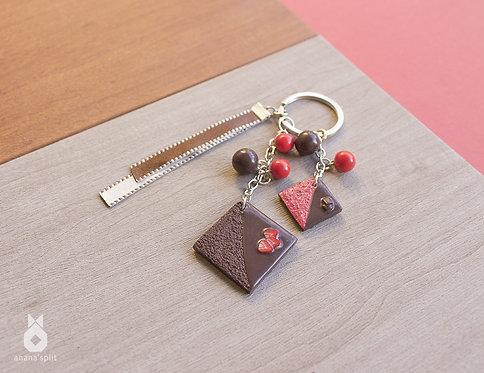 Porte clefs chocolat fraise