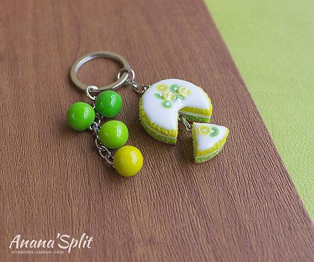 Porte clefs gâteau gourmand - Citron vert
