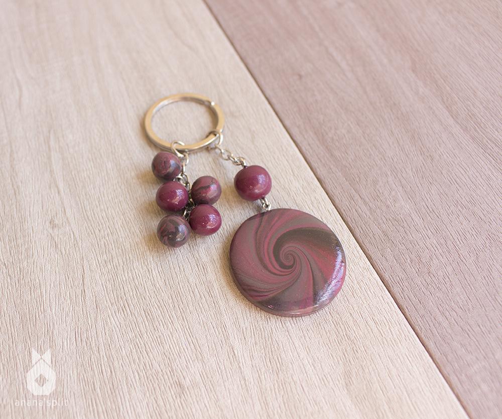 Porte-clefs : Spirale abstraite
