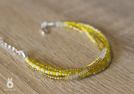 Bracelet en perles jaunes