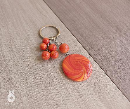 Porte clefs Spirale orange