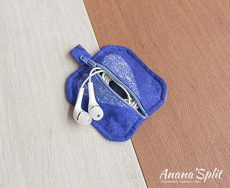 Porte-clefs rangement écouteurs, pièces...