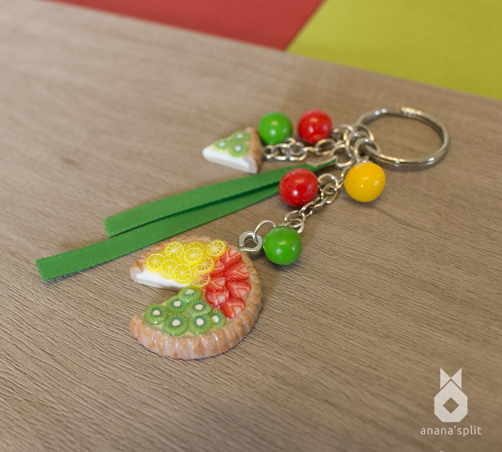 Porte-clefs : Tarte aux fruits