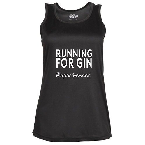 Running For Gin Fitted Technical Top