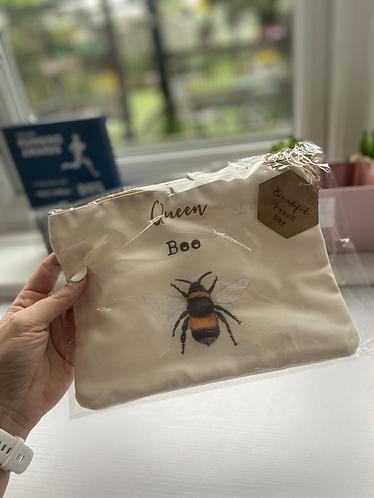 Queen Bee Make Up Bag