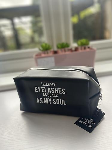 Black Soul Make Up Bag