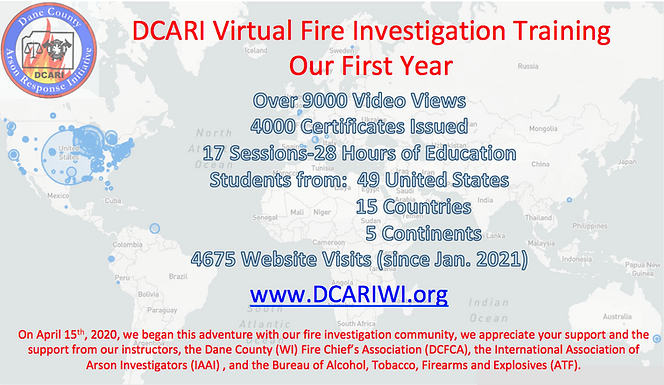 Final DCARI Annual Virtual Fire Investig