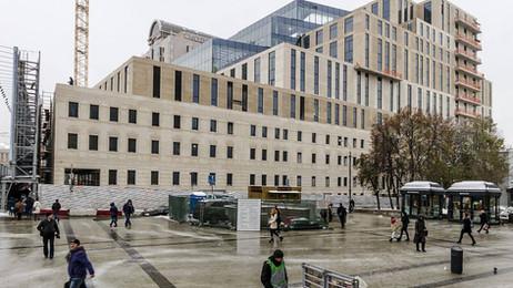 Смоленский Пассаж 2 фасадные работы  