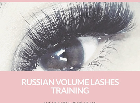Extra Russian volume lash training dates added
