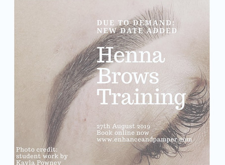 Henna brows training in Manchester
