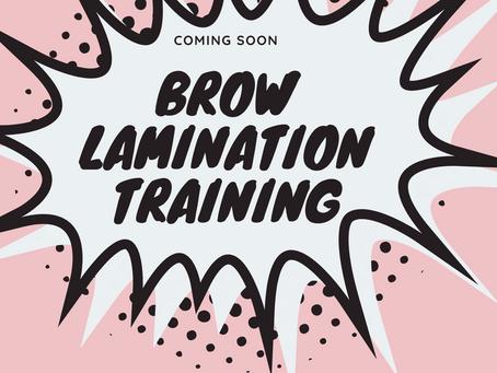Brow Lamination Training Manchester