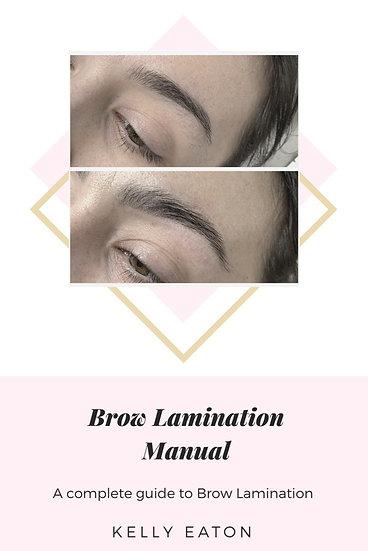 Brow Lamination Manual - Downloadable eBook