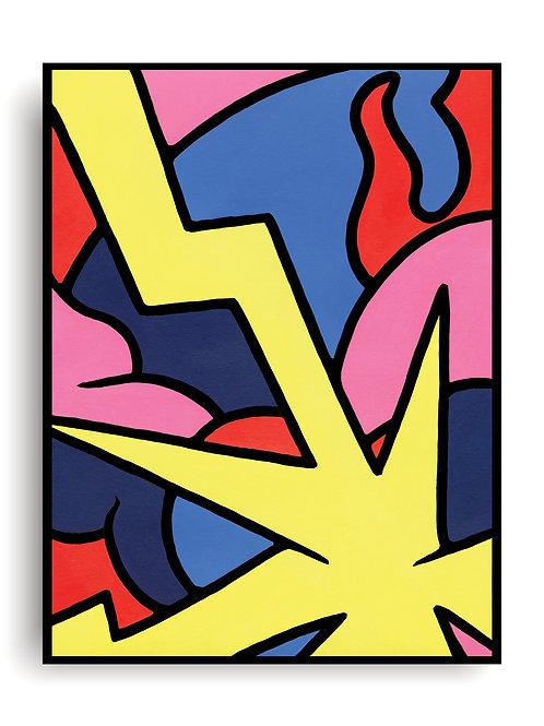 """Power"" Giclee Archival Cold Press Fine Art Print"