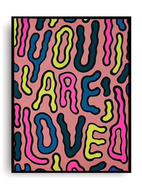 """""""You Are Loved"""" Giclee Archival Cold Press Fine Art Print"""