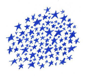 Handwritten stars