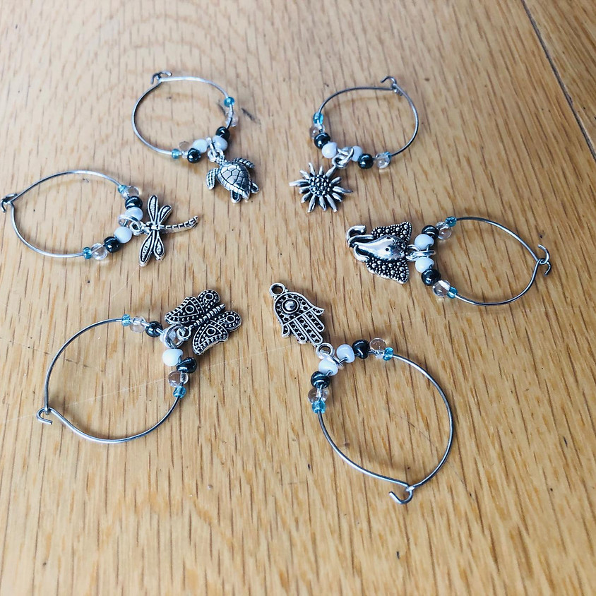 Beading with Ingrid - wine glass charms