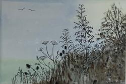 Gill Butt - Morning Sunrise Hedgerow