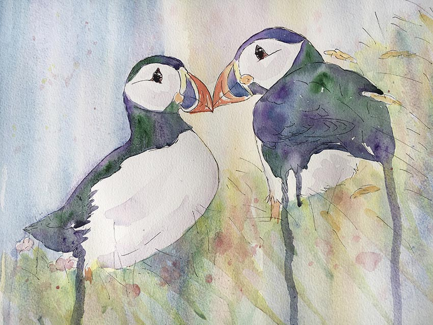 Puffins Paired Sarah-Marie Clee small