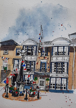 The Swan Southwold by Lesley Cartwright.