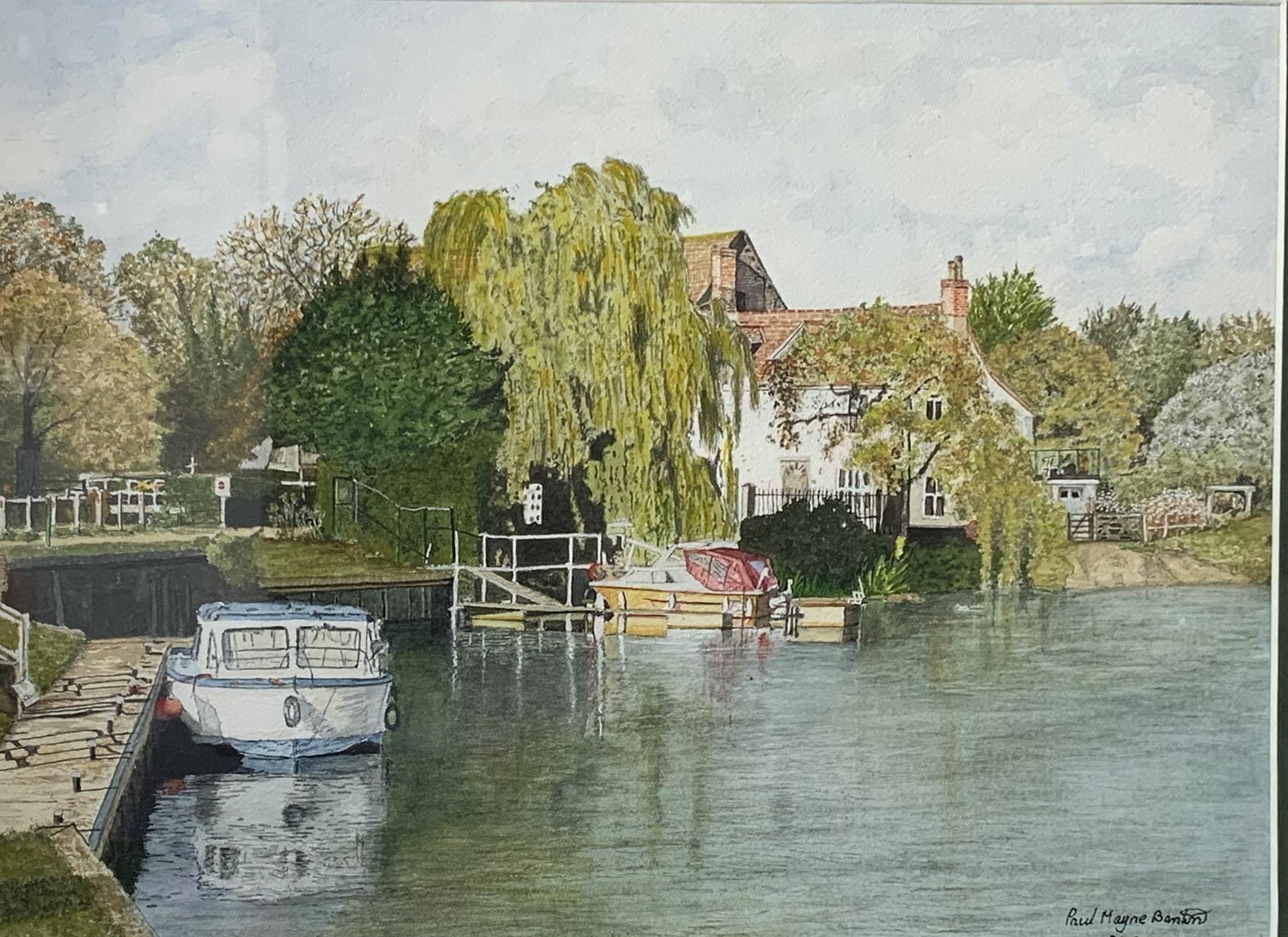 Paul Mayne Banton - Boats at Eaton Lock.