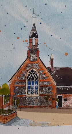 Old School Eynesbury by Lesley Cartwrigh