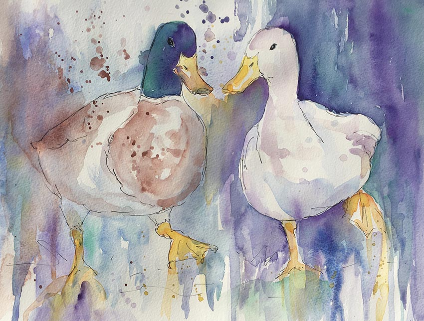 Puddled Ducks Sarah-Marie Clee small.