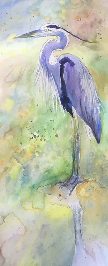 Sunlit Heron Sarah-Marie Clee small