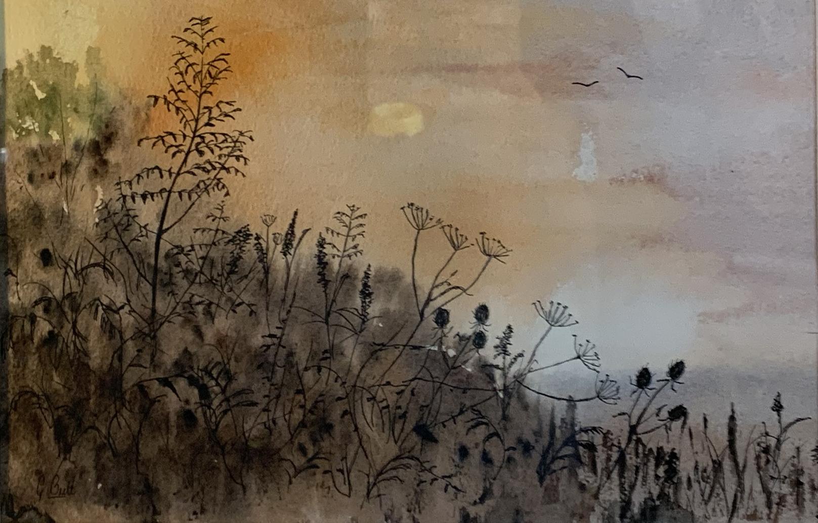 Gill Butt - Morning Sunrise Hedgerow II.