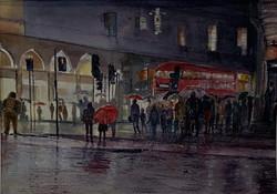rainy night home