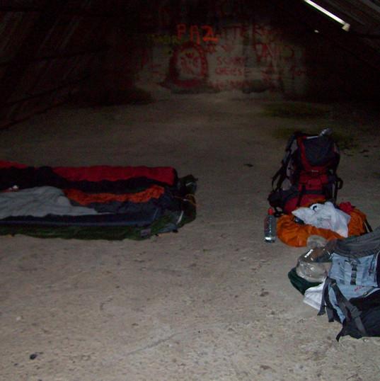 Nachtquartier im Gebirge