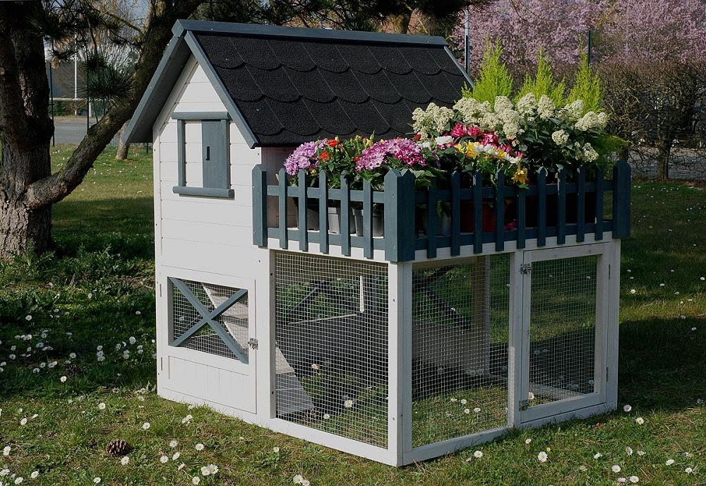 un poulailler avec potager ou parterre de fleurs n 1 du poulailler en bois clapier enclos. Black Bedroom Furniture Sets. Home Design Ideas