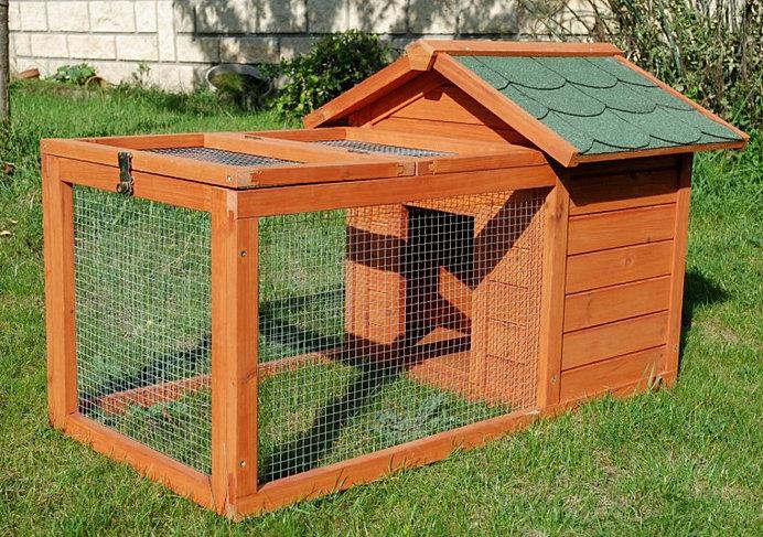 Cage enclos pour lapin et autres rongeurs avec toit en shingle for Enclos exterieur pour lapin