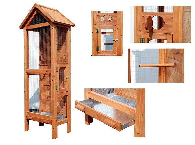voli re en bois pas ch re et autres voli res oiseaux. Black Bedroom Furniture Sets. Home Design Ideas