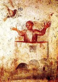 Noé na Arca - imagem da igreja e da salvação