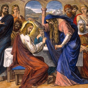 Uma mulher eternizada na lembrança da Semana Santa