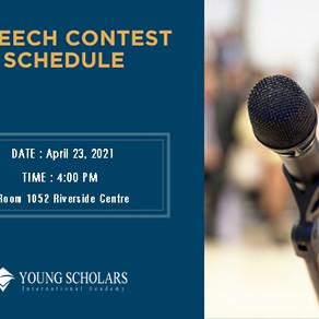 YSI 소식 2021년 4월 Speech Contest 공지