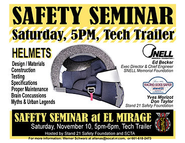 SCTA Safety Seminar at El Mirage BW Nov