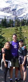 A family glacier hike in Mount Rainier National Park.