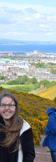 Climbing Arthur's Seat in Edinburg, Scotland. What an international beaut.